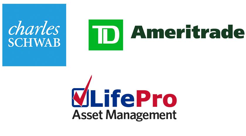 Charles Schwab, TD Ameritrade, and LifePro Asset Management