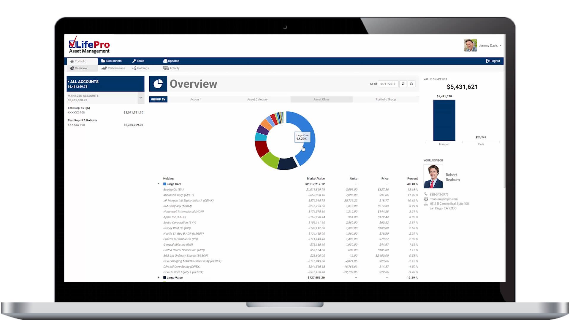 LifePro Asset Management Portal